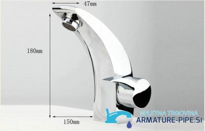 Dimenzije kopalniške armature EYN 0007
