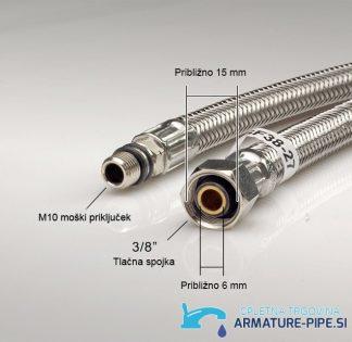 Standardne cevi za priklop kuhinjske armature ali kopalniške pipe