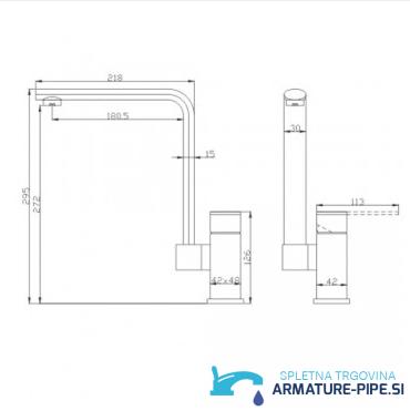 kopalniska_kuhinjska_armatura_pipa_EYN0245_mere