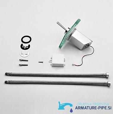LED pipa za kopalnico EYN MF161 - sodobna kopalniška armatura - komplet