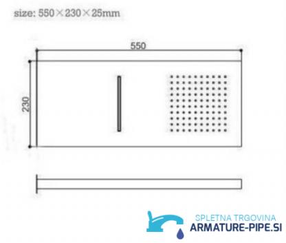 Podometni tuš sistem z načinom slapa in dežja EYN PT9398