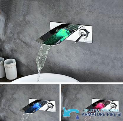 LED stenska kopalniška armatura s slapom EYN SK 0559