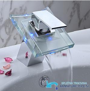 LED kopalniška armatura - slap pipa za kopalnico EYN cq0812 - od zgoraj