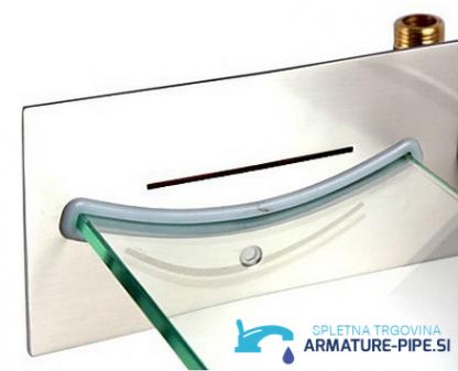 Ekstravagantna kopalniška armatura za steno iz kaljenega stekla
