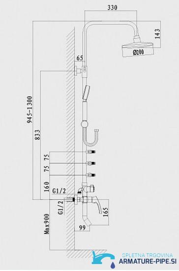 Tuš sistem EYN NTS03271