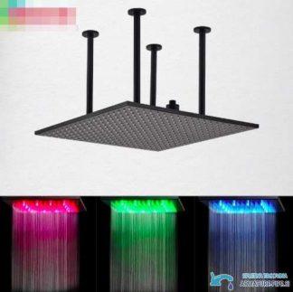 Črni podometni tuš sistem z veliko LED glavo 60 cm   Tuš EYN CPT1327