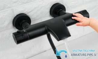 Črna termostatska armatura za kad | Pipa EYN NTA1631