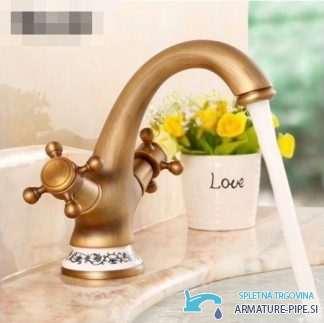 Anticna Kopalniska Armatura Za Umivalnik S Keramiko Anticna Pipa Eyn Ua1403