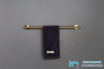 Zlati Dodatki Za Kopalnico - držalo - obešalnik za brisačo v zlati barvi