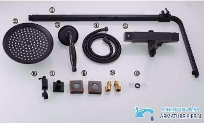 Crni Termostatski Tus Sistem Eyn Nta1601